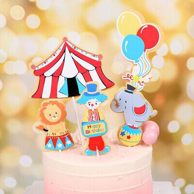 Carnival Theme Cake (DIY Birthday Circus Carnival Theme Cake Decoration Set For Kids)