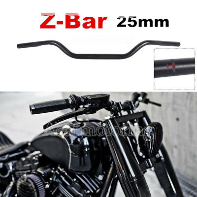 Black 1  Inch Drag Bars Handlebars Fit Harley Sportster Dyna Xl Softail Chopper