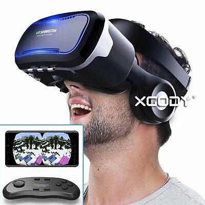 VR Shinecon Headset Virtual Reality 3D Glasses for Iphone Samsung With Gamepad