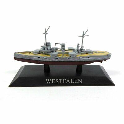 Westfalen Barco de Guerra 1:1250 Acorazado Diecast Agostini *35