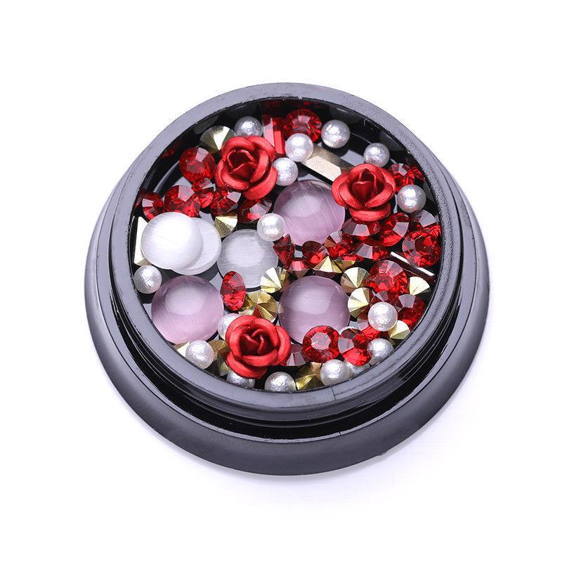 1Box Red Rose Beads