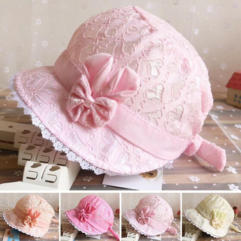 Bucket Hat Bonnet Sun Hat Beach Newborn Toddler Baby Girl Summer Hat Peak Cap 1x