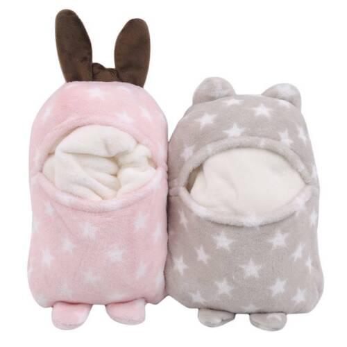 Baby Newborn Soft Coral Fleece Warm Blanket Wrap Pram Bed Cot Pushchair Basket