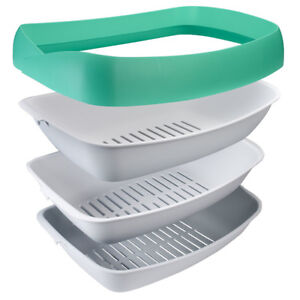 Luuup Litter Box - 3 Sifting Tray Cat Litter Box is Antimicrobia