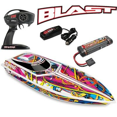 NEW Traxxas Blast Electric RC Boat w/ID Battery & Quick Charger - FREE SHIPPING