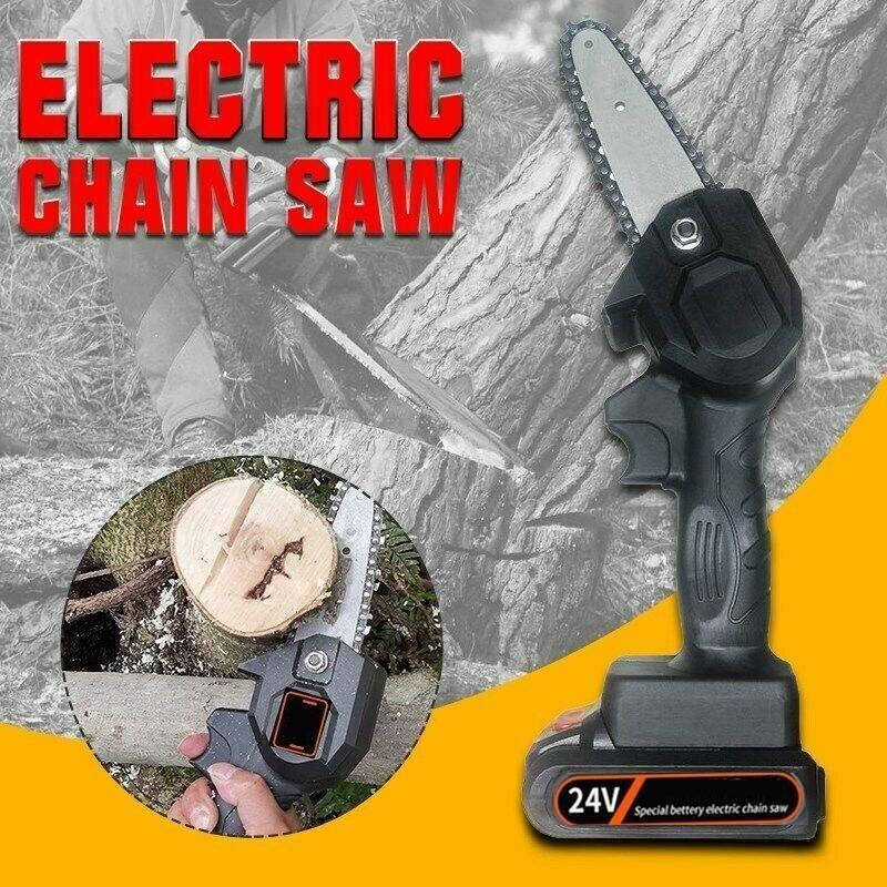 24V Mini One-Hand Saw Woodworking Electric Chain Saw Wood Cu