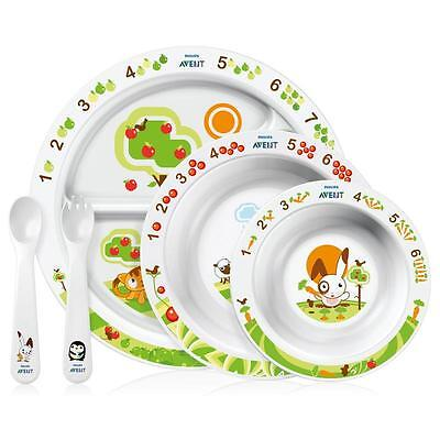 Philips Avent Großes Ess-Lern-Set für Kinder ab 6 Monaten Geschirrset SCF7