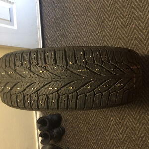 set of 4 winter tires Edmonton Edmonton Area image 1