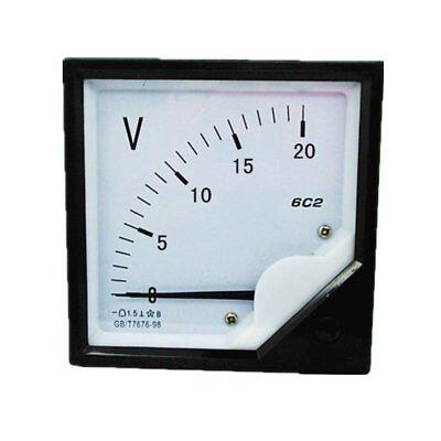 1pc 6c2 Rectangle Plastic Analog Voltmeter Voltage Meter Dc 0-20v 8080
