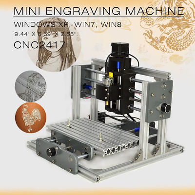 Cnc Router 2417 Desktop Mini Engraving Machine Milling Engraver Pcb Metal Diy
