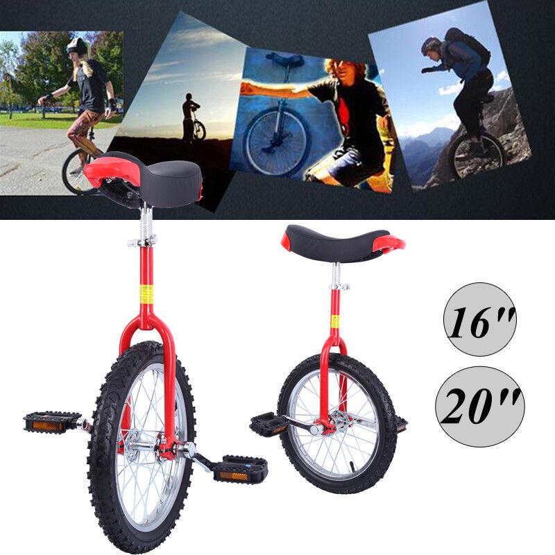 """16"""" 20"""" Luxus Einrad höhenverstellbar Unicycle Fahrrad mit Schnellspanner Kinder"""