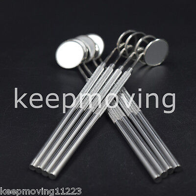 10 Pcs Dental Stainless Steel Mouth Mirror With 4 Reflector Handle Instrument