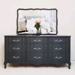 Andrew Malcom Ladies French Provincial Dresser with Mirror