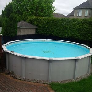 piscine hors terre 24' - above ground pool 24'