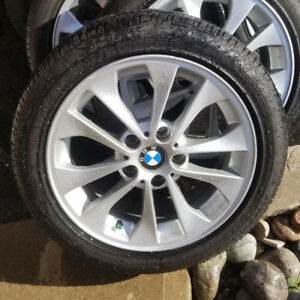 BMW E46 OEM Rims and tires 5x120 95% thread Goodyear eagle Rs