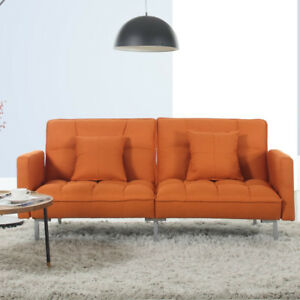 NEVER USED - Madison Home USA Convertible Sofa Bed Orange
