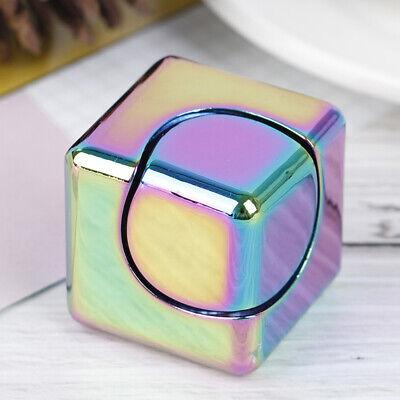 Square Cube Hand Fidget Spinner Fidget Aluminum EDC Tri Toy Bearing ADHD Autism