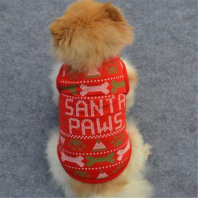 Weihnachtshaustier Kostüm Hunde Katzen Nette Karikatur Lustige Kleidung Pet (Nette Lustige Kostüm)