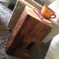 Barn Beam Reclaimed Side table or tables