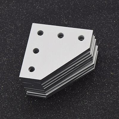 10 Pcs 5 Holes 90 Degree Joining Plate Aluminium Linear Extrusion 3d Printer Cnc