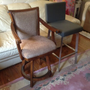 An assortment of bar stool metal & wood can deliver