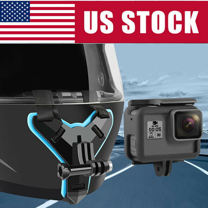 US Helmet Chin Mount Holder Motorcycle Helmet Strap for GoPro Hero Action Camera