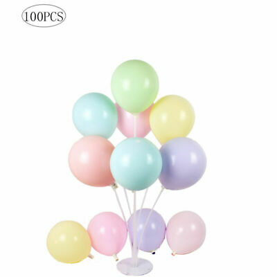 100pcs Macaron Candy Colored Party Balloons Pastel Latex Balloons Decor 10 Inch - Pastel Color Balloons