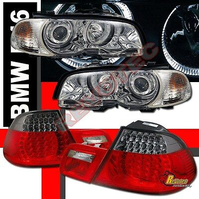 BMW E46 330ci 2DR Coupe Halo Projector Headlights & Corner & LED Tail Lights for sale  Shipping to Canada