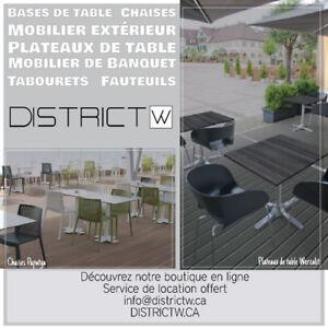 Meubles : Chaises, Tables, Tabourets, Mobilier extérieur...