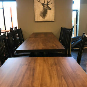 custom Restaurant Furniture, church , golf course tables, chairs