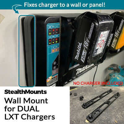 StealthMounts Wall Mount for Makita 18v Dual Port Double LXT Battery Charger 01 Wall Mount