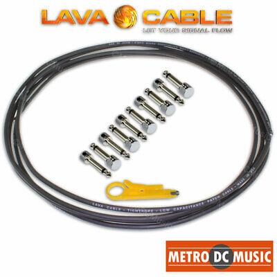 """Lava 18/"""" Mini ULTRAMAFIC Pedalboard Patch Cable Switchcraft 229 Pancake Plugs"""
