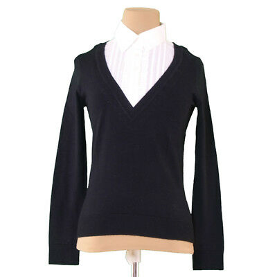 Burberry knit Black White Woman Authentic Used S482