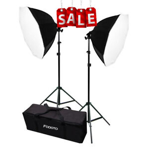 1000w Photo Video Softbox Lighting Kit (Square or Octagon)
