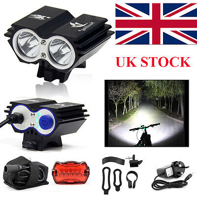 Waterproof 5000 Lumen 2x CREE XML U2 LED Cycling Bicycle Bike Light Headlamp
