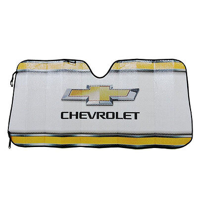 New CHEVY Bowtie Elite Car Truck Suv Windshield Accordion Folding Sun Shade