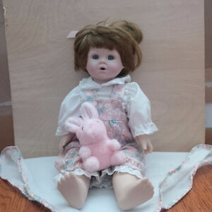 """""""BABY & BLANKET"""" - porcelain doll (Royale collection)"""