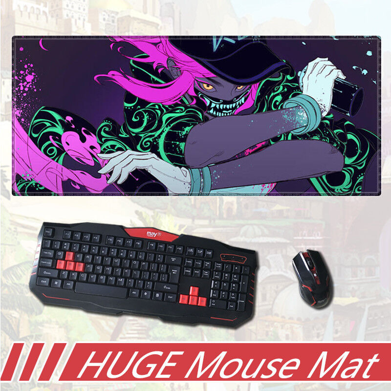 Cute Girl LOL KDA Ahri aLL Mousepad Game Anime knit Mouse Mat Pad Gift Cos #A2