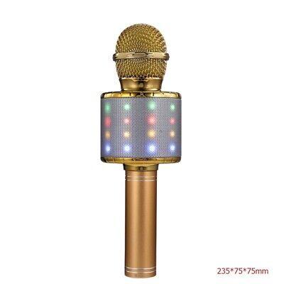 4 In 1 Wireless LED bluetooth Karaoke Microphone USB Speaker Mini Home KTV Gear
