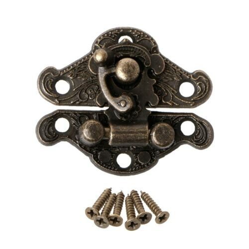 Vintage Latch Hasp Pad Chest Lock Plate For Wooden Jewelry Box Cabinet QK