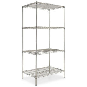"""Chrome Plated Heavy Duty Wire Shelving 18"""" x 48"""""""