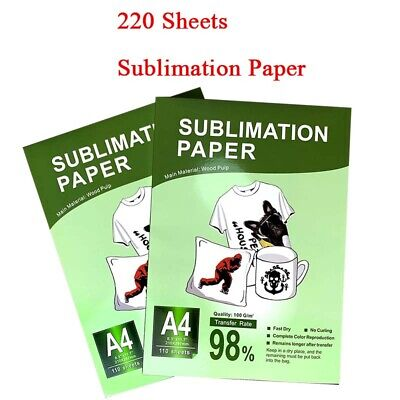 A4 220sheets Sublimation Transfer Paper Dye Paper Iron On Mug T-shirt Plate