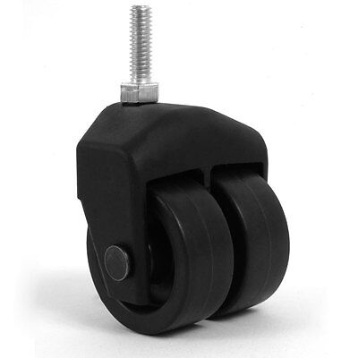 3 Dual Wheel Composite Caster With 516 Threaded Stem Set Of 4