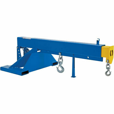 New Adjustable Pivoting Forklift Jib Boom Crane 8000 Lb. 24 Centers