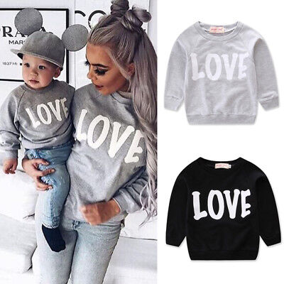 Us Mom And Baby Girl Boy Clothes Family Matching Outfit Parent Child Top Clothes