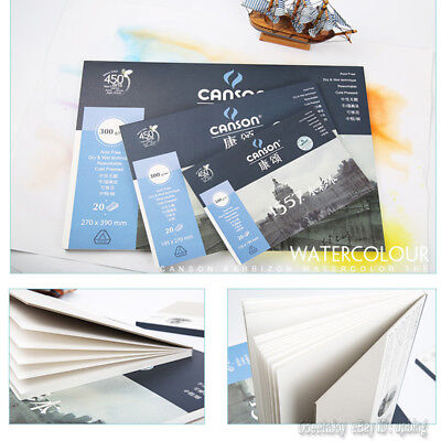 Canson 1557 - A3/A4/A5 Pad Including 20 Sheets Sketch Book Drawing Paper 300G