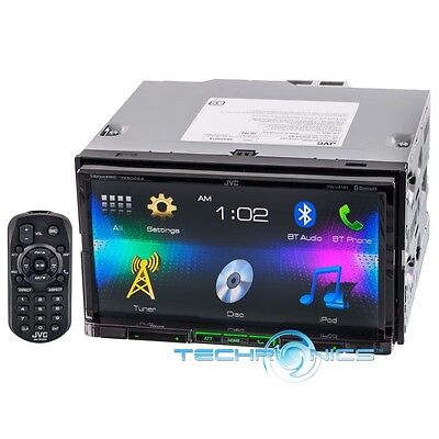 """JVC KW-V41BT 7"""" TOUCHSCREEN DOUBLE DIN BLUETOOTH DVD CD MP3 CAR STEREO RECEIVER"""