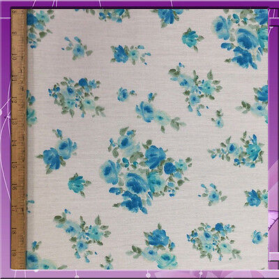 "100% RAYON CREPE FLOWER DESIGN WITH IVORY BACKGROUND 58"" WIDE FABRIC SOLD BTY"