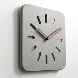 D305 Modern Style Gray Mute Square Living Room Decoration Wall Clock 12 Inch A