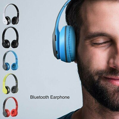 Wireless Bluetooth 5.0 Headphones Over Ear Headset Foldable Noise Cancelling